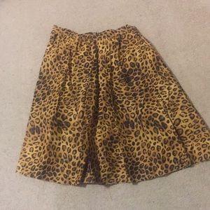 Leopard Midi Length Skirt